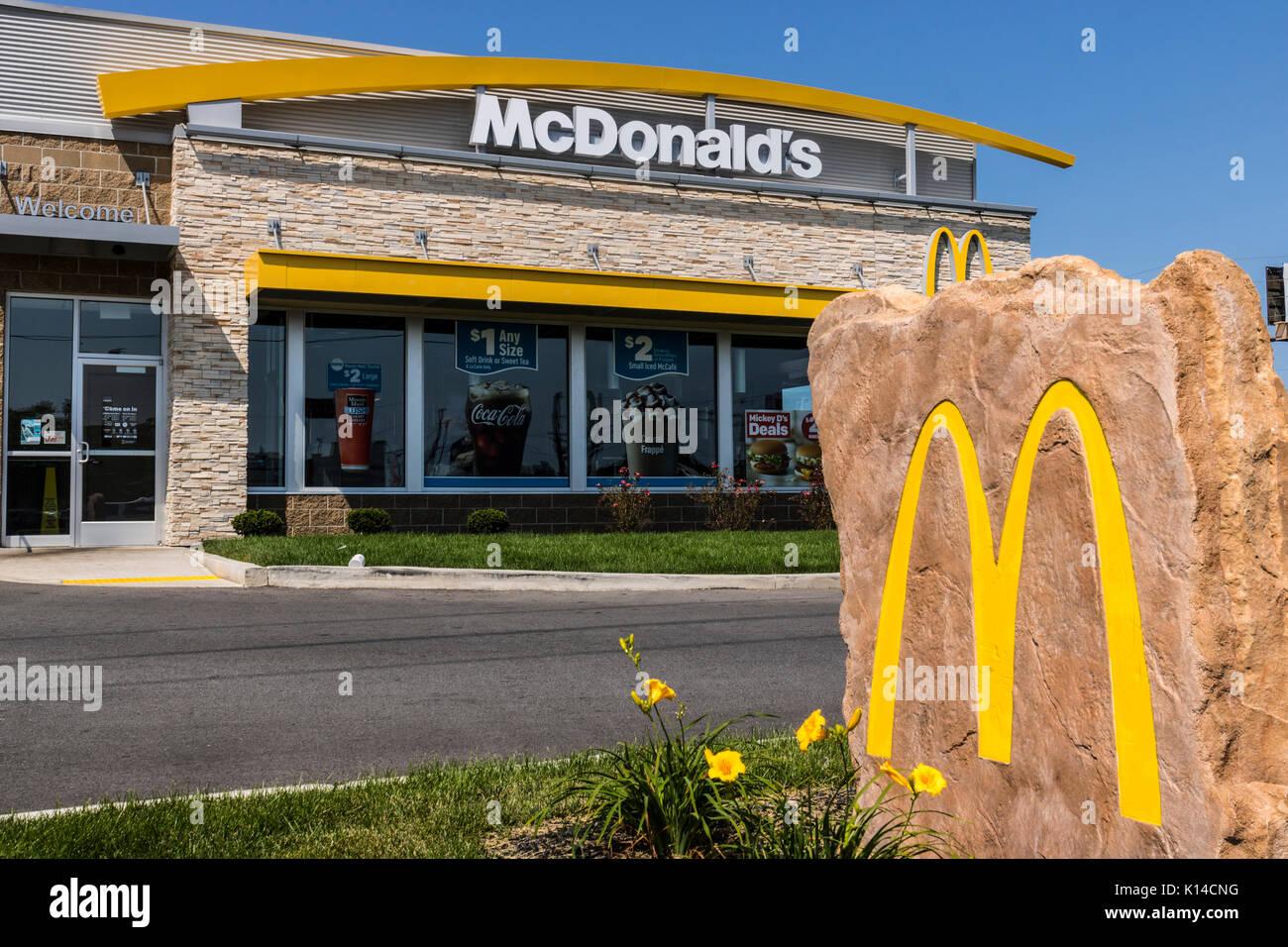 Kokomo Circa August 2017 Mcdonalds Restaurant Location Stock