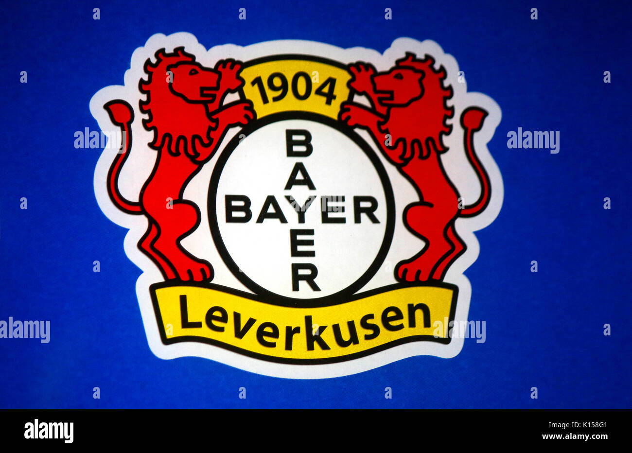 Bayer logo stock photos bayer logo stock images alamy das logo der marke bayer leverkusen berlin stock image buycottarizona Image collections