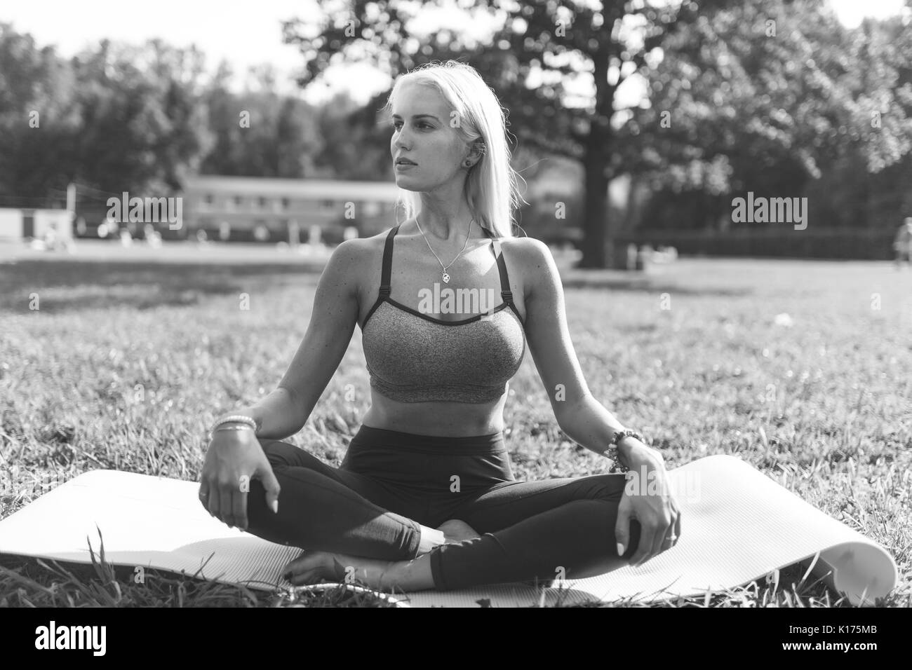 Yoga Pose Black And White Stock Photos Amp Images Alamy