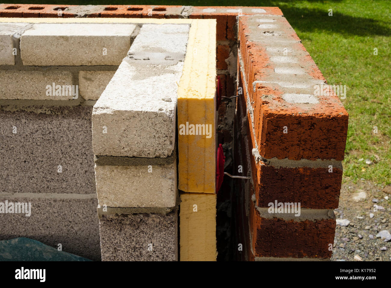 Cavity wall stock photos cavity wall stock images alamy for Stone wall insulation
