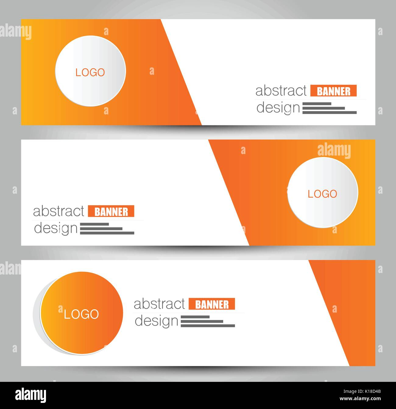 banner template abstract background for design business stock