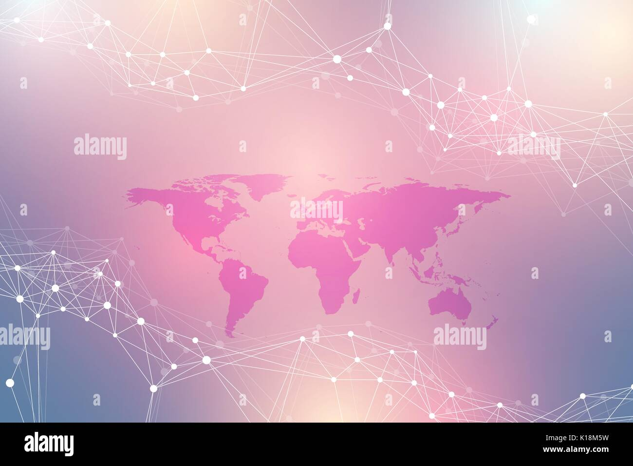 Political world map with global technology networking concept digital data visualization scientific cybernetic particle compounds big data background communication vector political world map gumiabroncs Gallery