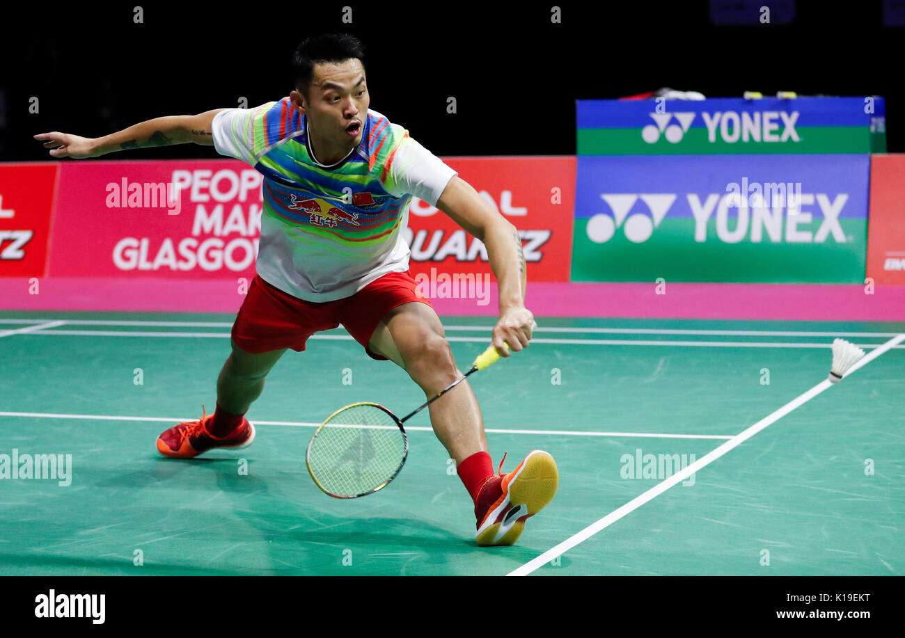 Glasgow Britain 26th Aug 2017 Lin Dan of China petes during