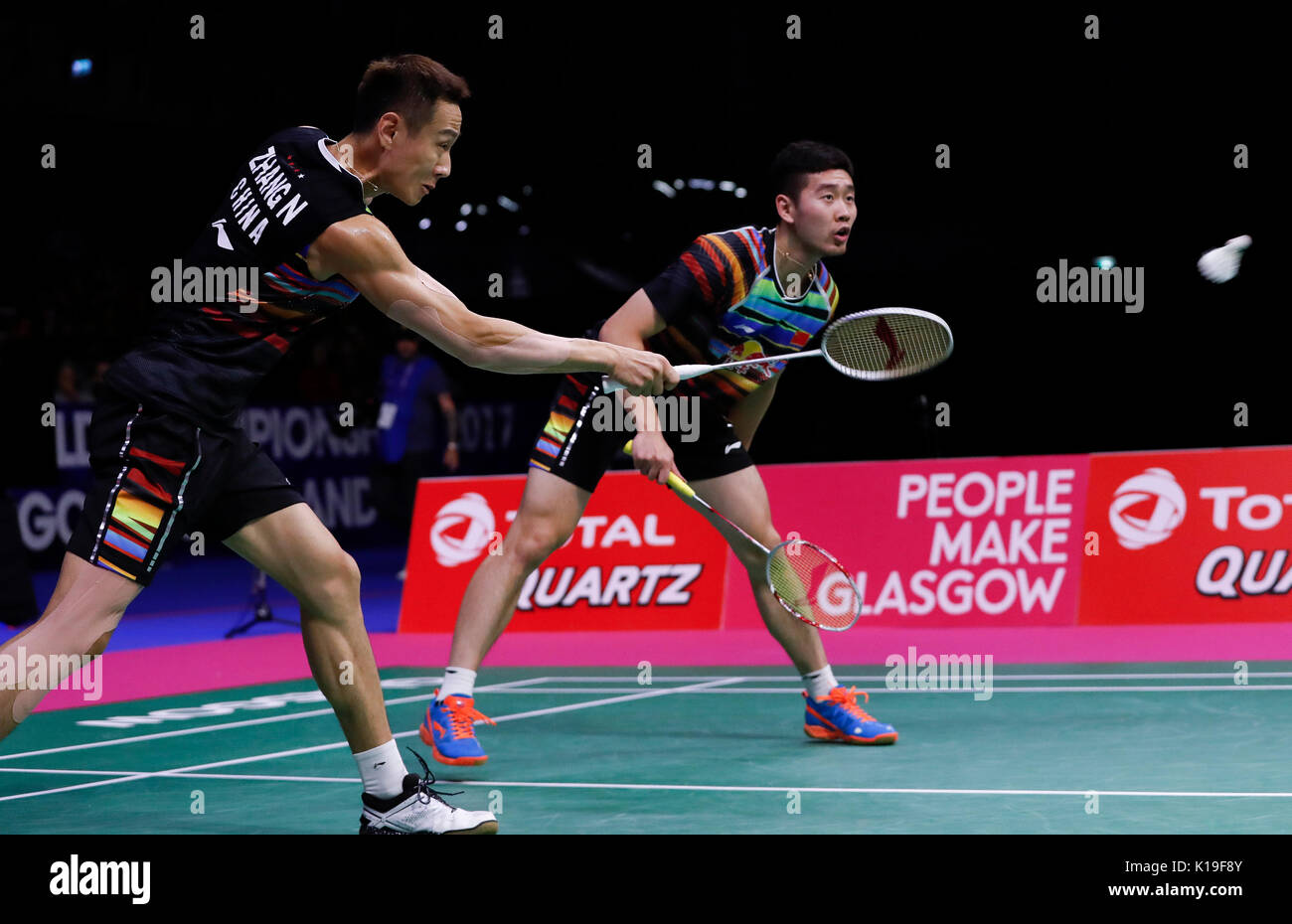 Glasgow Britain 26th Aug 2017 Liu Cheng R and Zhang Nan of