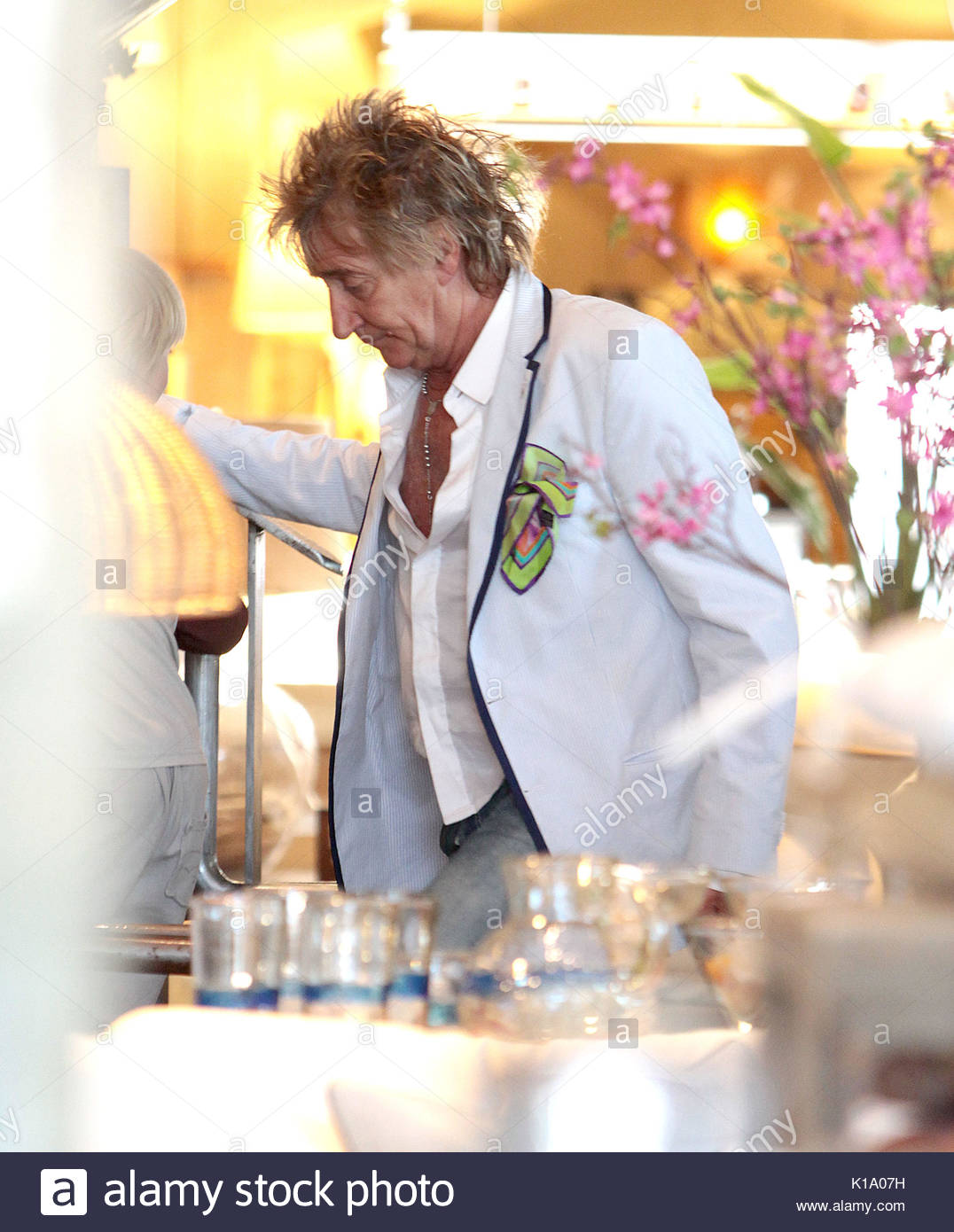 Legendary Crooner Rod Stewart Seen In Pottery Barn Furniture Store In  Beverly Hills, CA With His Wife Penny Lancaster. Rod Even Had To Make His  Way Upstairs ...