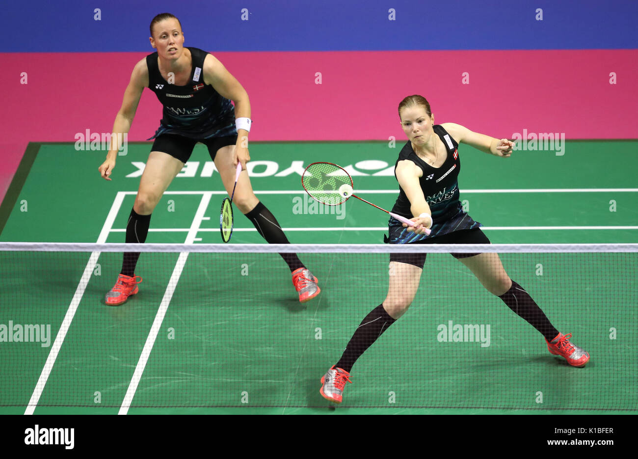 Denmark s Kamilla Rytter Juhl left and Christinna Pedersen in