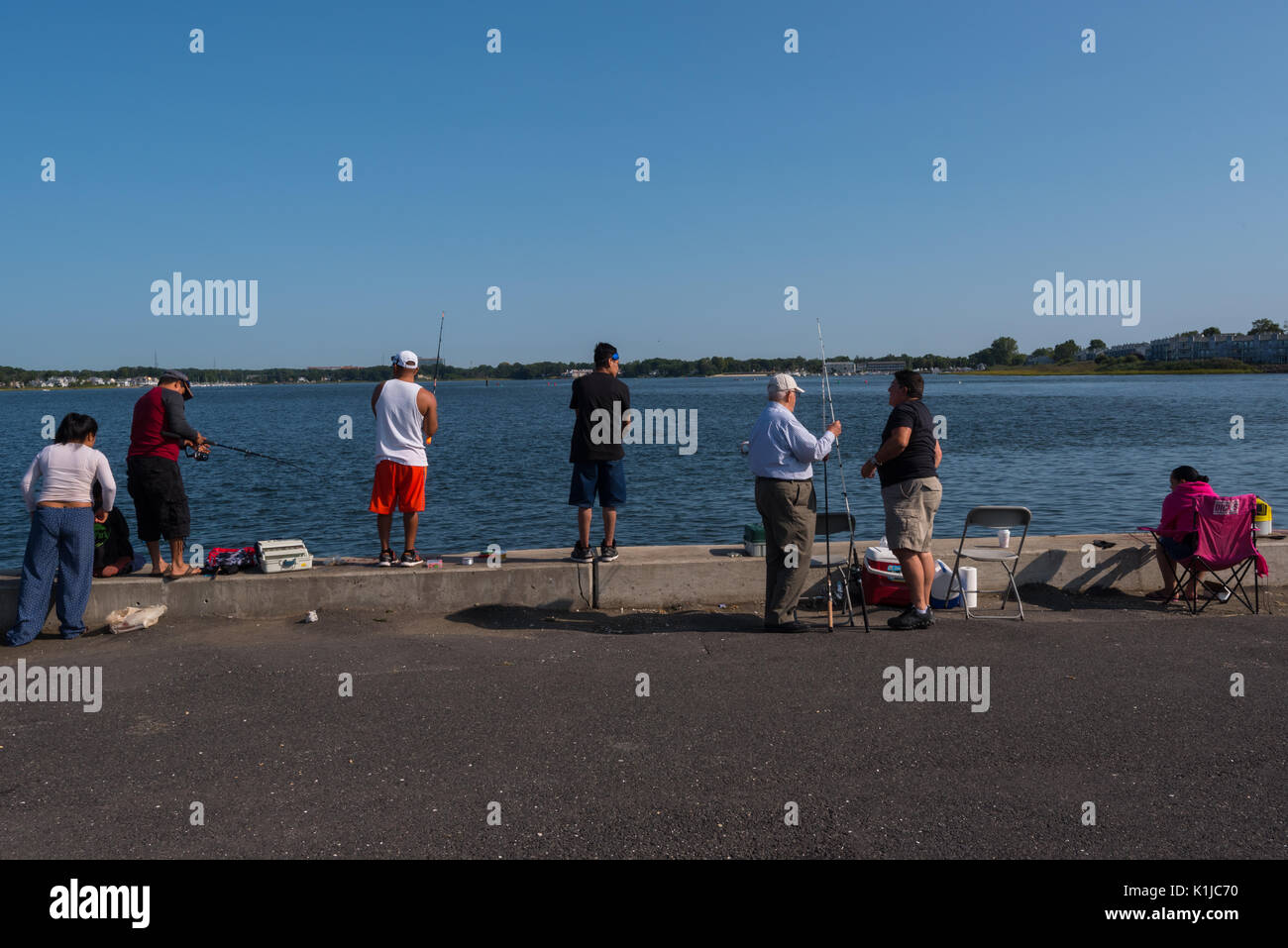 Surfcasting stock photos surfcasting stock images alamy for Belmar nj fishing