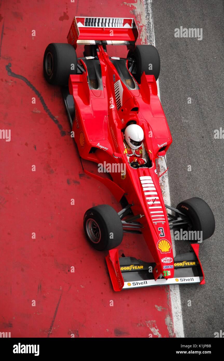 MUGELLO, IT, November, 2008: Unknown Run With Modern Ferrari F1 During  Finali