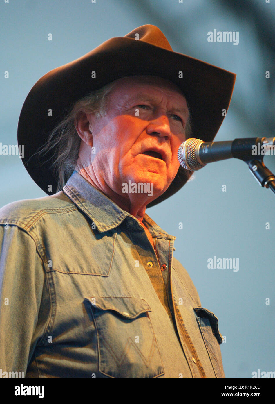 Musician Billy Joe Shaver Performing 2008 Stagecoach Country Music