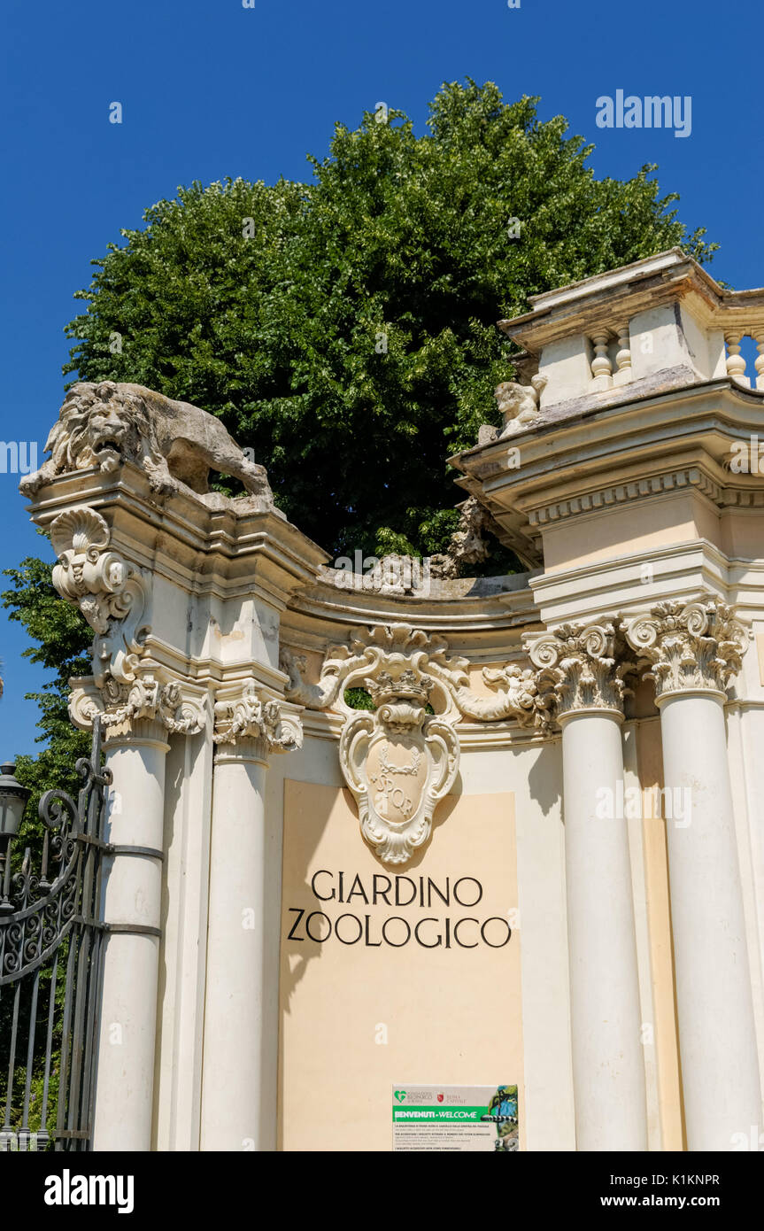 Giardino zoologico entrance roma stock photos giardino for O giardino di pulcinella roma