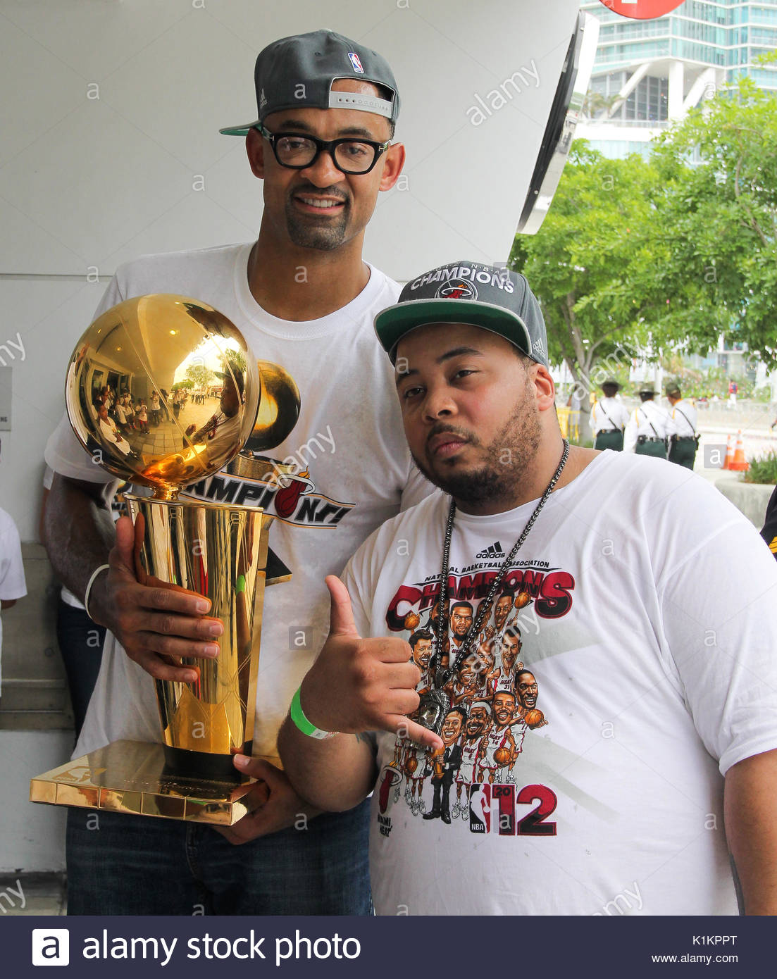 Juwan Howard The Miami Heat NBA Champion victory parade on June