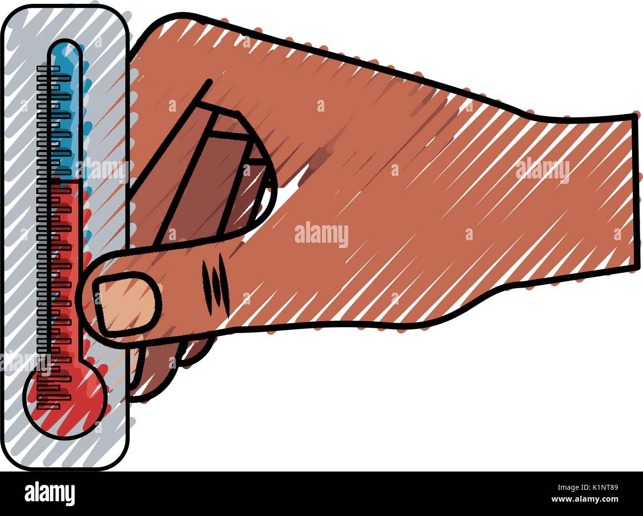 Thermometer Temperature Symbol Icon Vector Illustration Graphic
