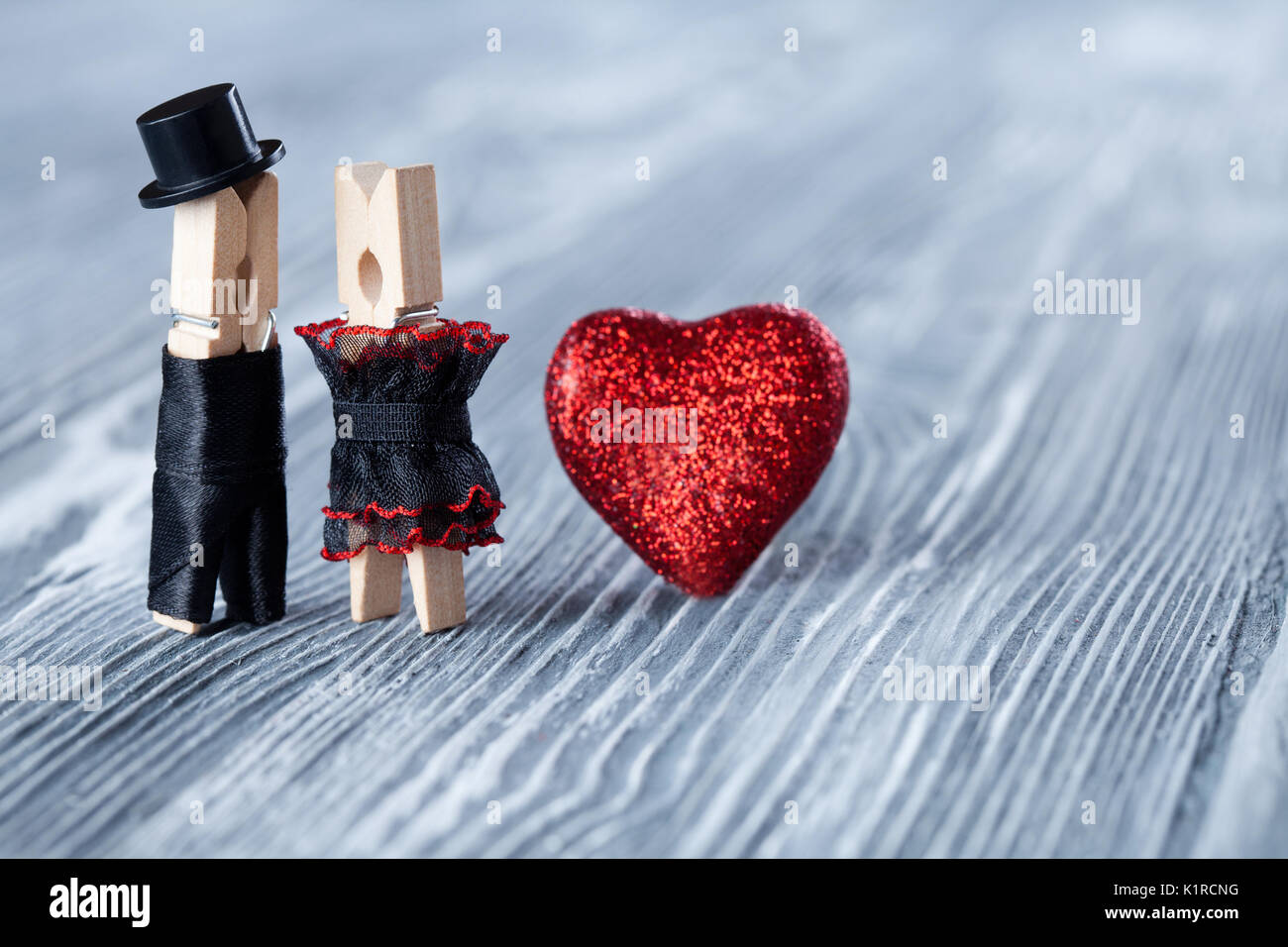 Romantic couple. Wedding invitation. Valentines day. Man, woman and ...