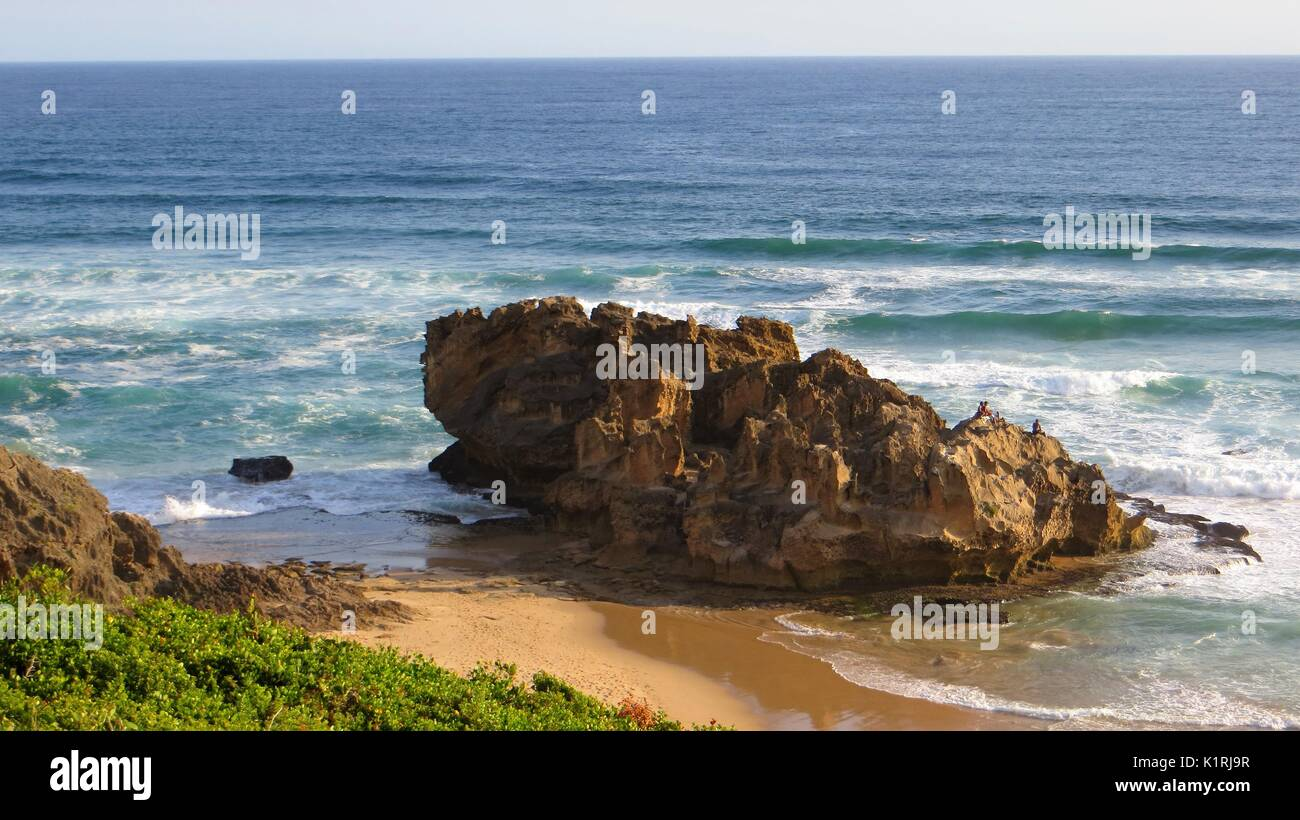 Landscape View Of Castle Rock, Brenton On Sea Beach, Garden Route, South  Africa