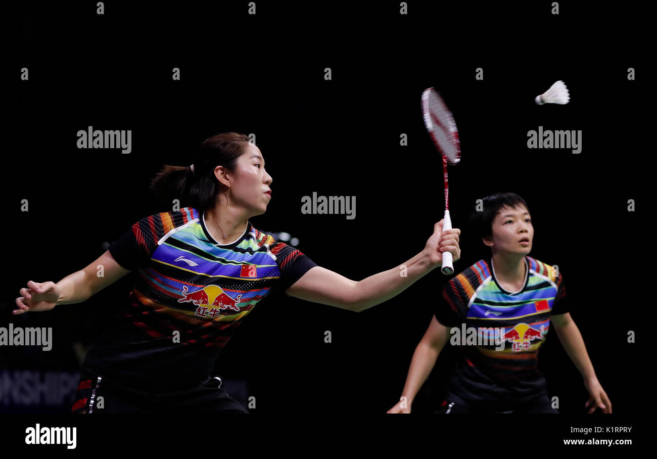 Glasgow Scotland 27th Aug 2017 Chen Qingchen Jia Yifan L of