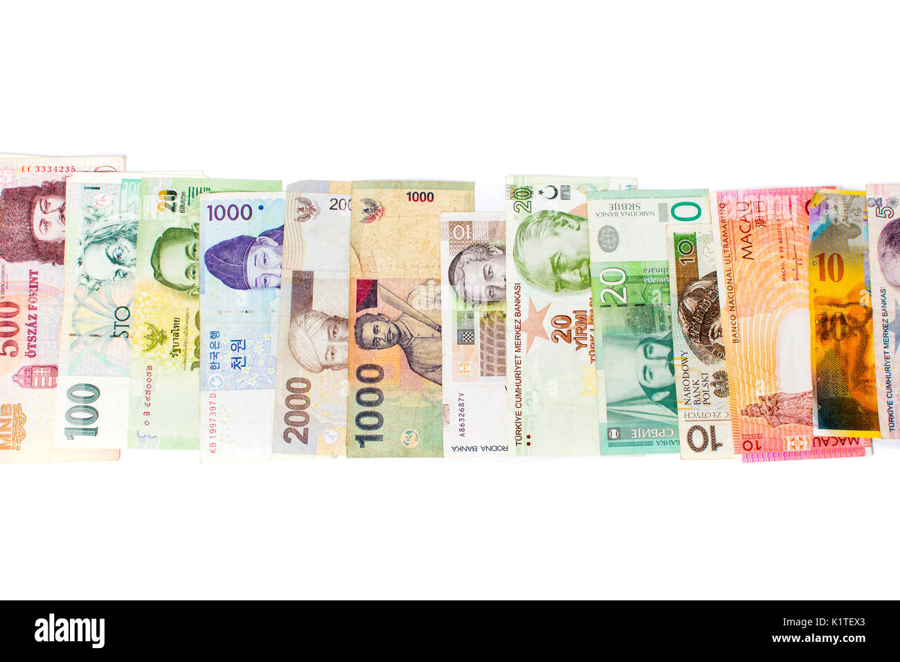 Various currencies stock photos various currencies stock images various currencies banknotes isolated on white background stock image buycottarizona Gallery