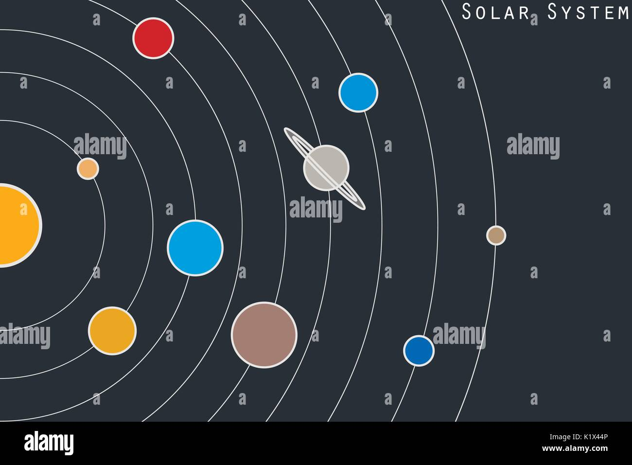 solar system vector - photo #6