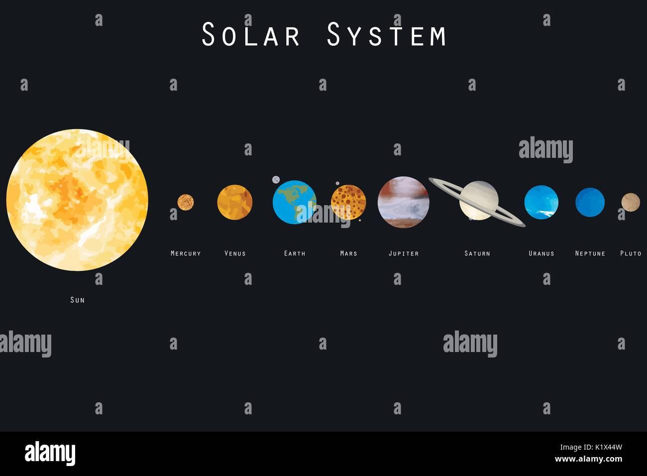 solar system vector - photo #29