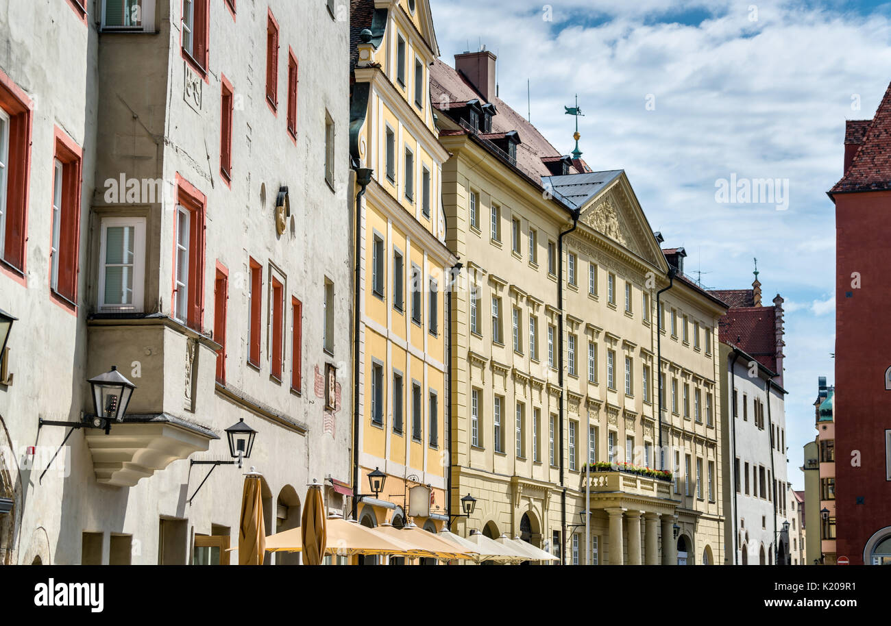 buildings in the old town of regensburg germany stock photo royalty free image 156130325 alamy. Black Bedroom Furniture Sets. Home Design Ideas