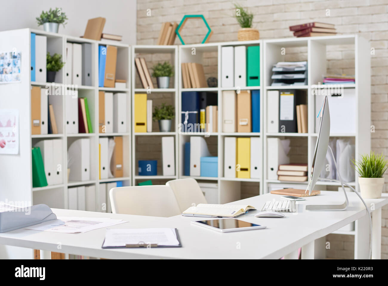 modern open plan interior office space. Modern Open Plan Office - Stock Image Interior Space A