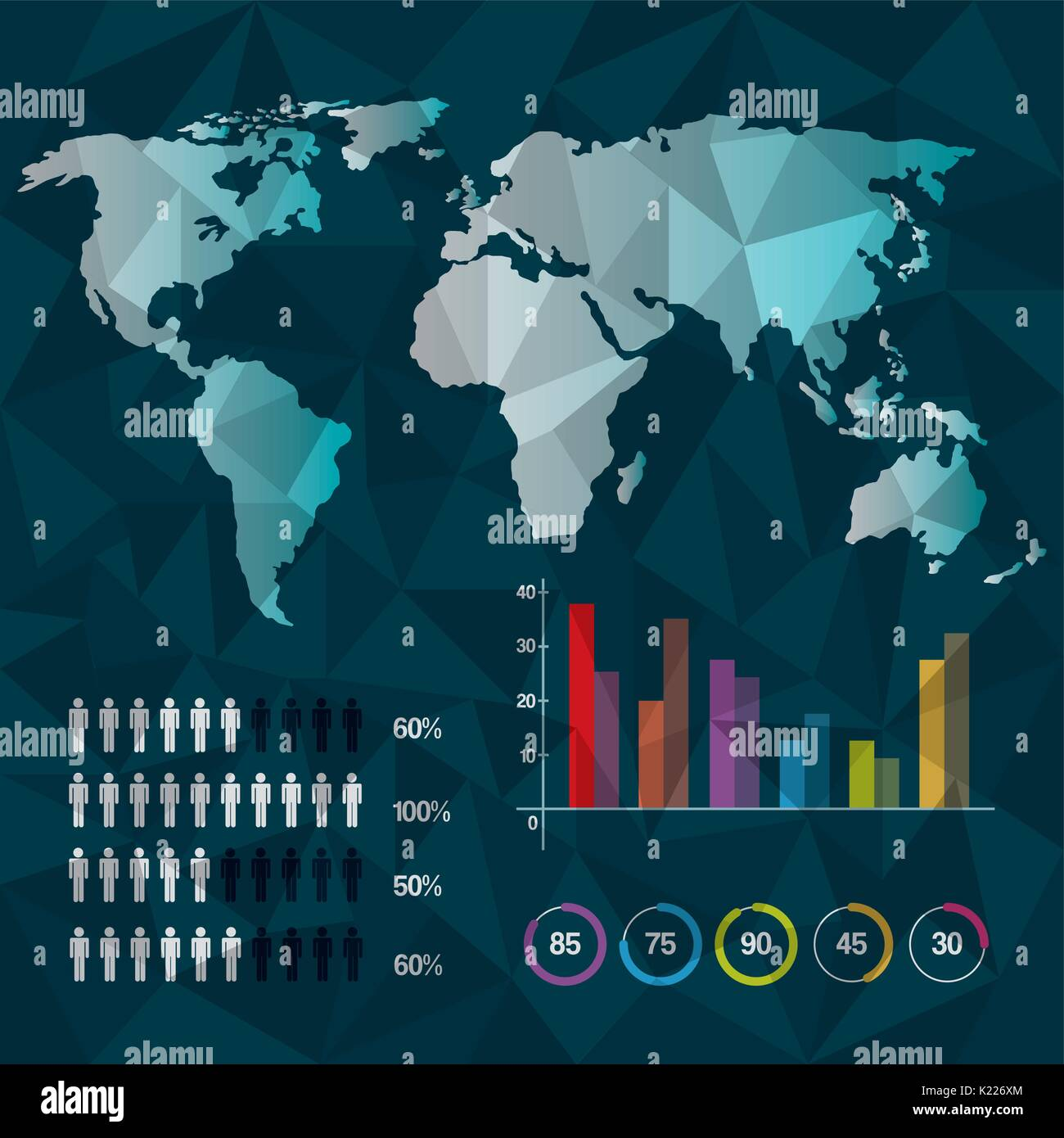 World map infographic demographic report data with abstract stock world map infographic demographic report data with abstract background gumiabroncs Image collections