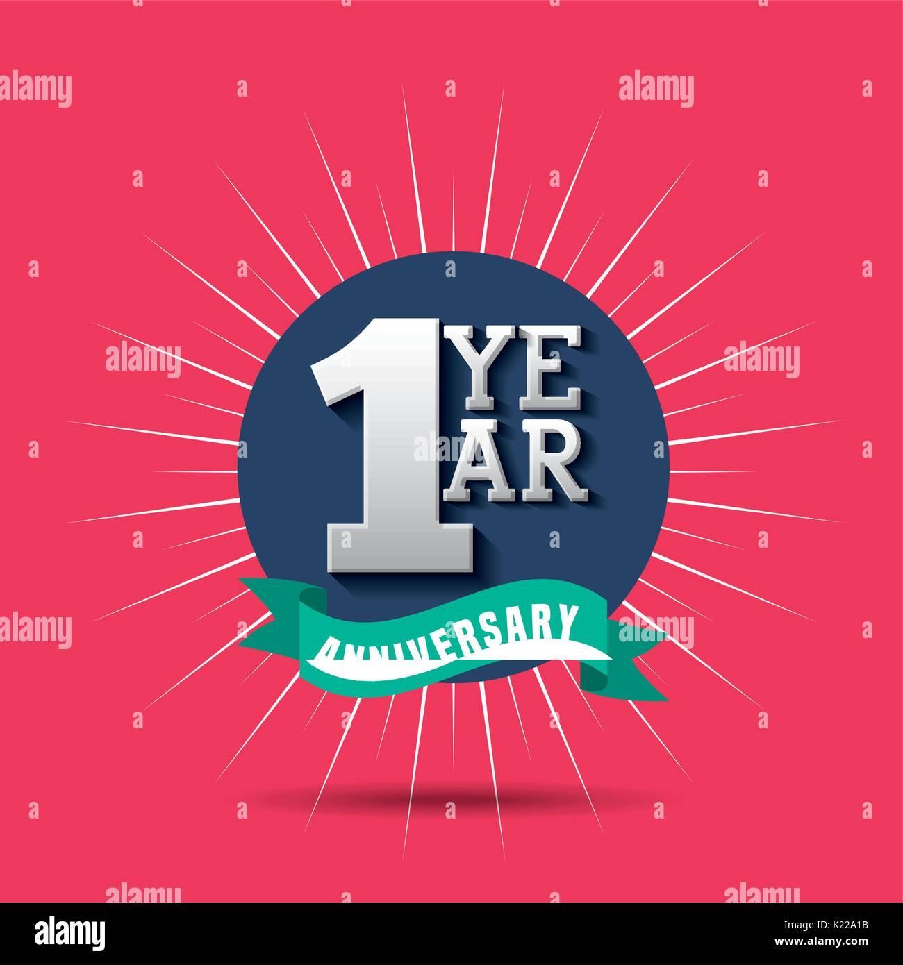 anniversary banner design Stock Photo, Royalty Free Image ...