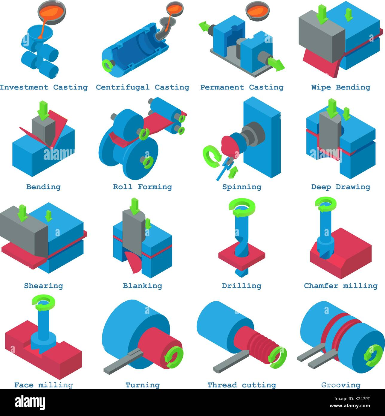 Investment casting stock photos investment casting stock images metalwork icons set isometric style stock image pooptronica