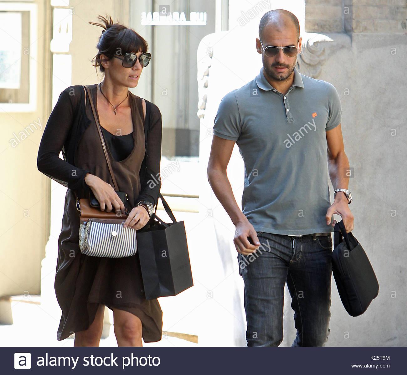 Pep Guardiola, wife Cristina. Former Barcelona boss Josep ...