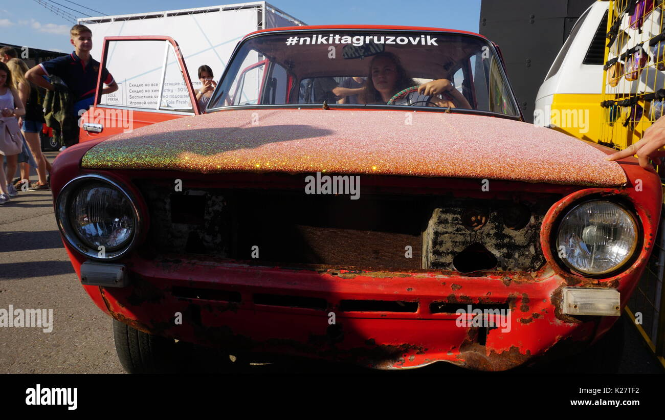 Cars On Sale And Car Show In Russia Stock Photo Alamy - Car show cars for sale
