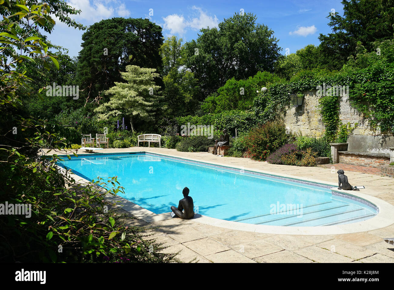 Garden swimming pool england stock photos garden for Garden city pool jobs