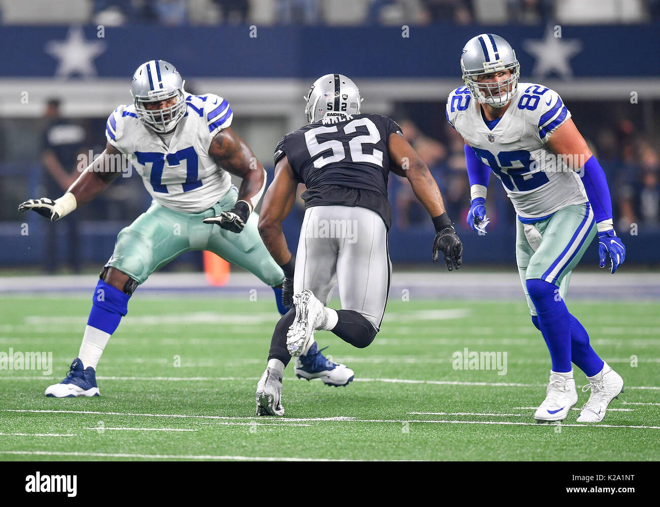 August 26th 2017 Dallas Cowboys tackle Tyron Smith 77 and