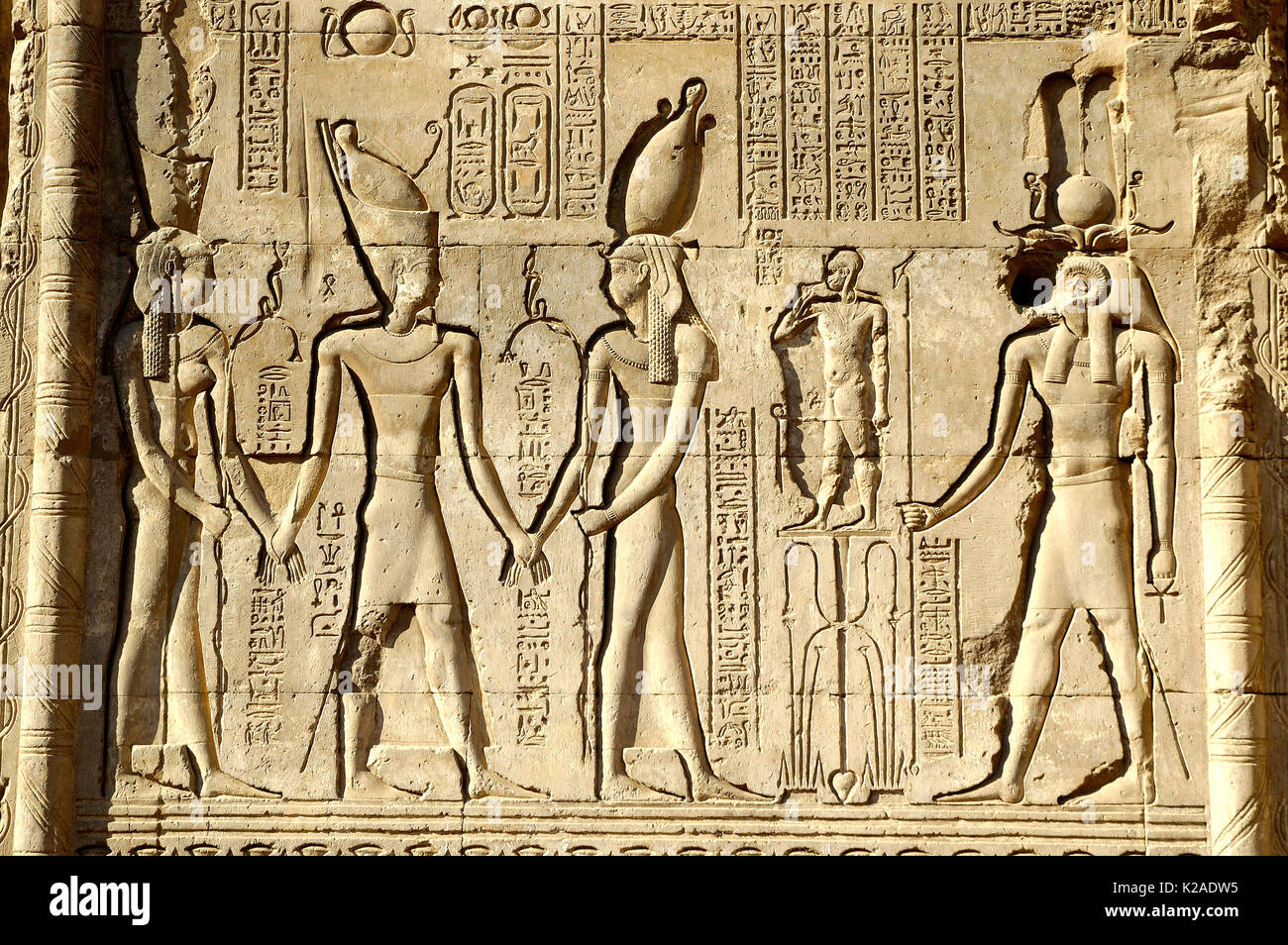 Wall reliefs from the Temple of Esna. Egypt Stock Photo, Royalty ...