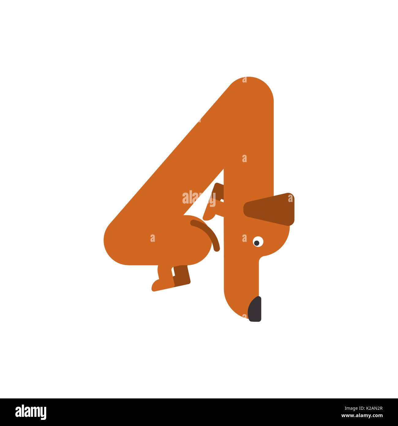 Figure 4 Dog Dachshund Font Four Home Pet Abc Symbol Home Animal