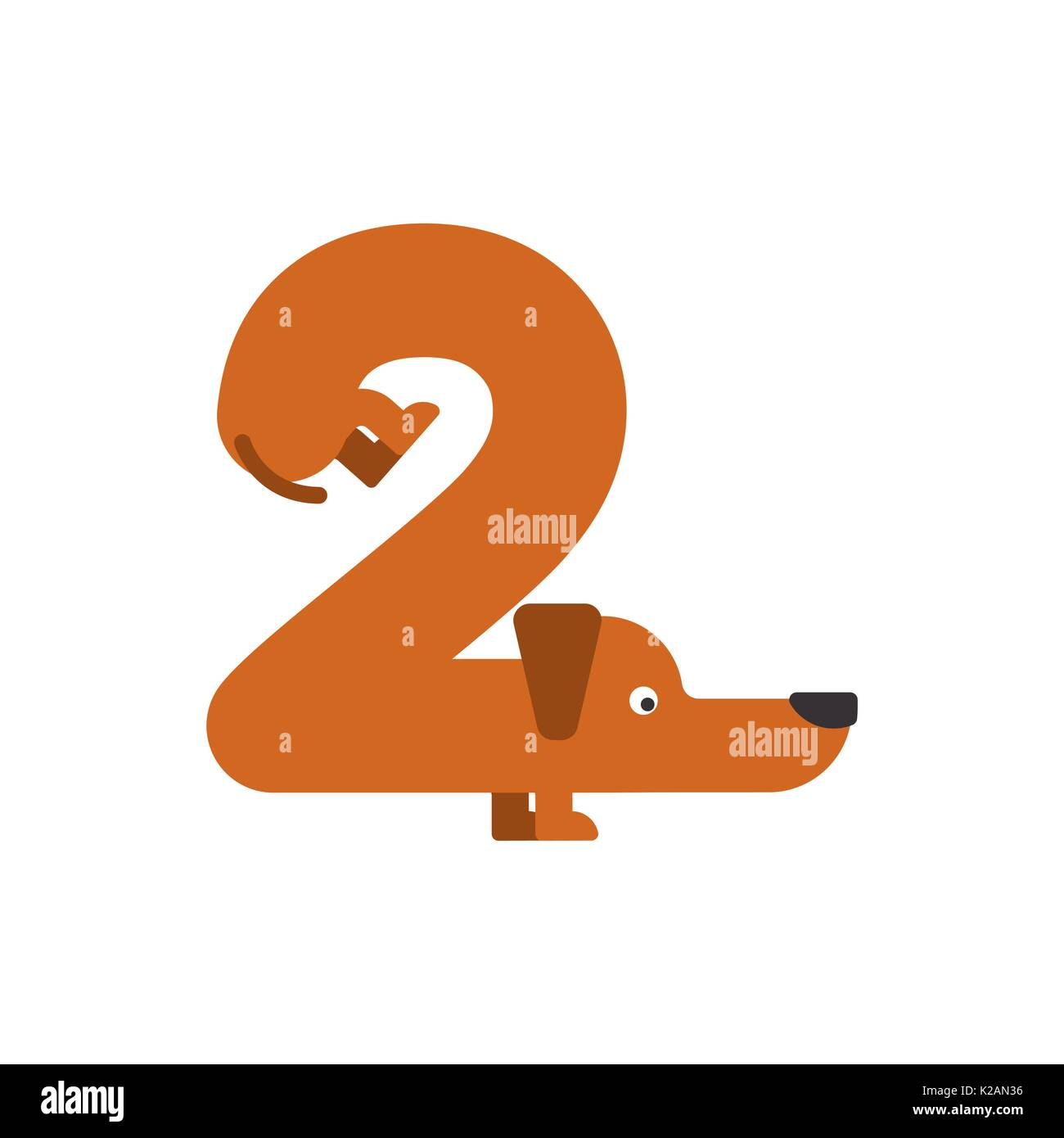 Figure 2 Dog Dachshund Font Two Home Pet Abc Symbol Home Animal