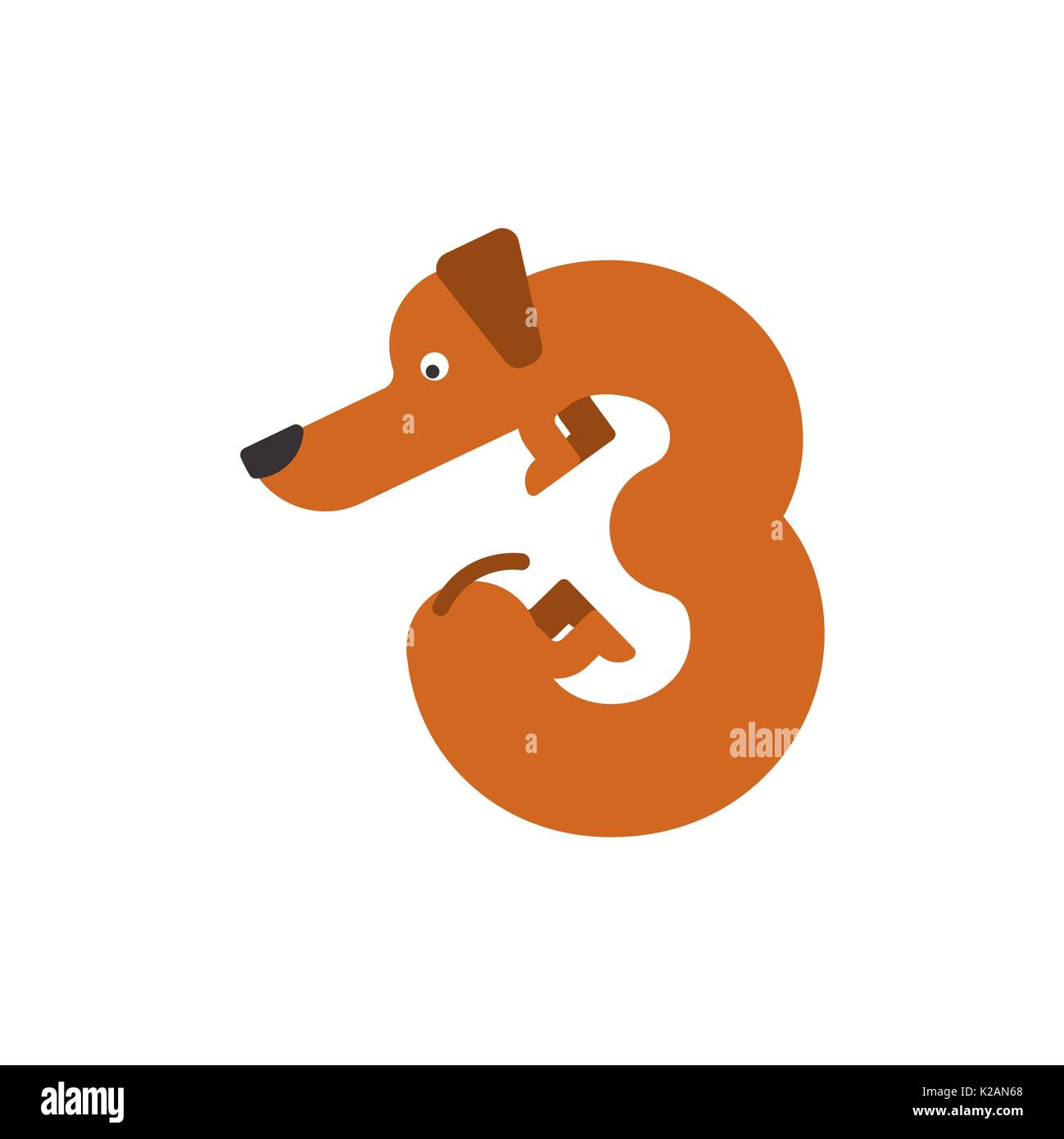Figure 3 Dog Dachshund Font Three Home Pet Abc Symbol Home Animal