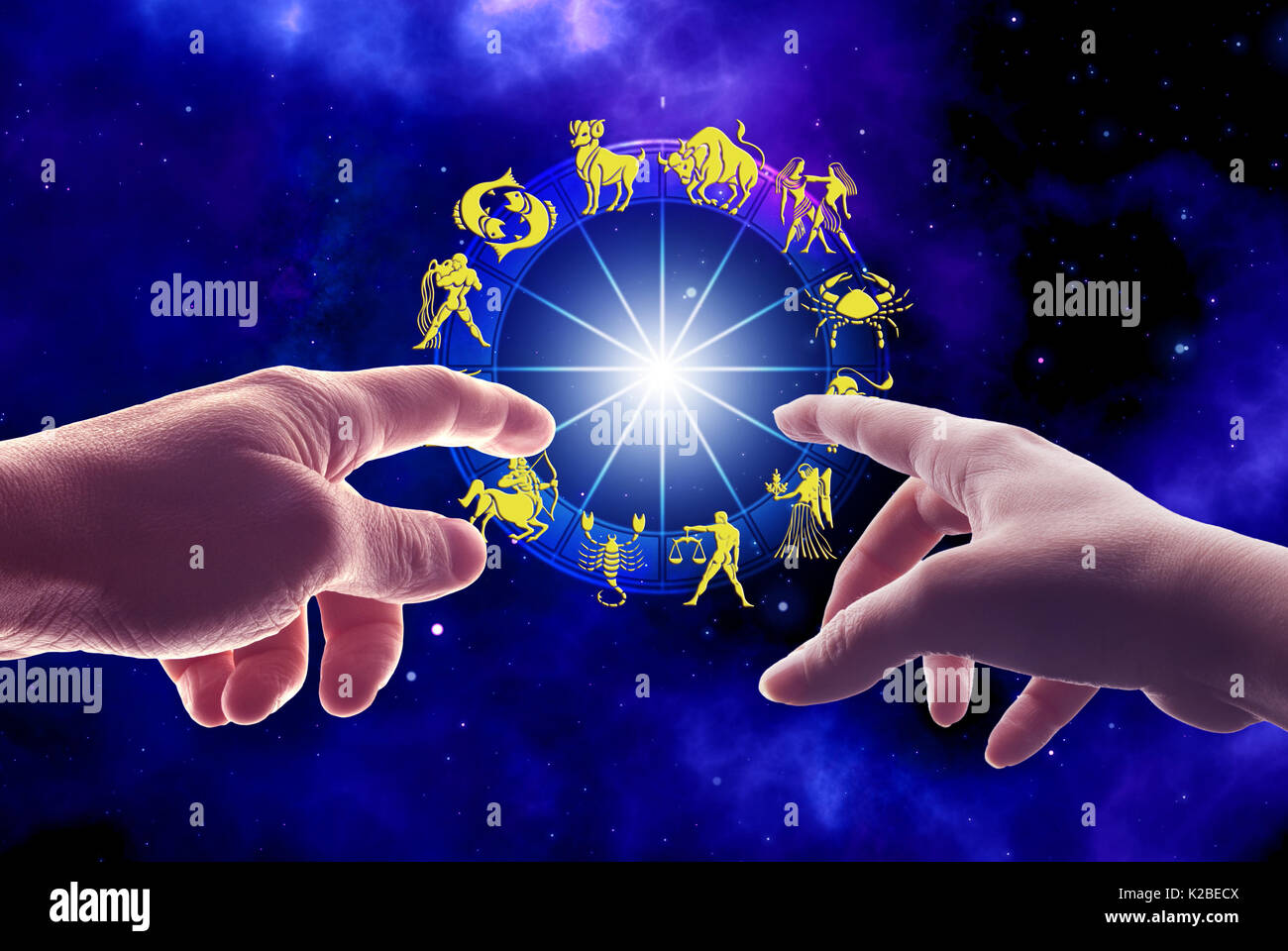 Male and female hands touching a zodiac chart astrology for couple male and female hands touching a zodiac chart astrology for couple concept geenschuldenfo Choice Image