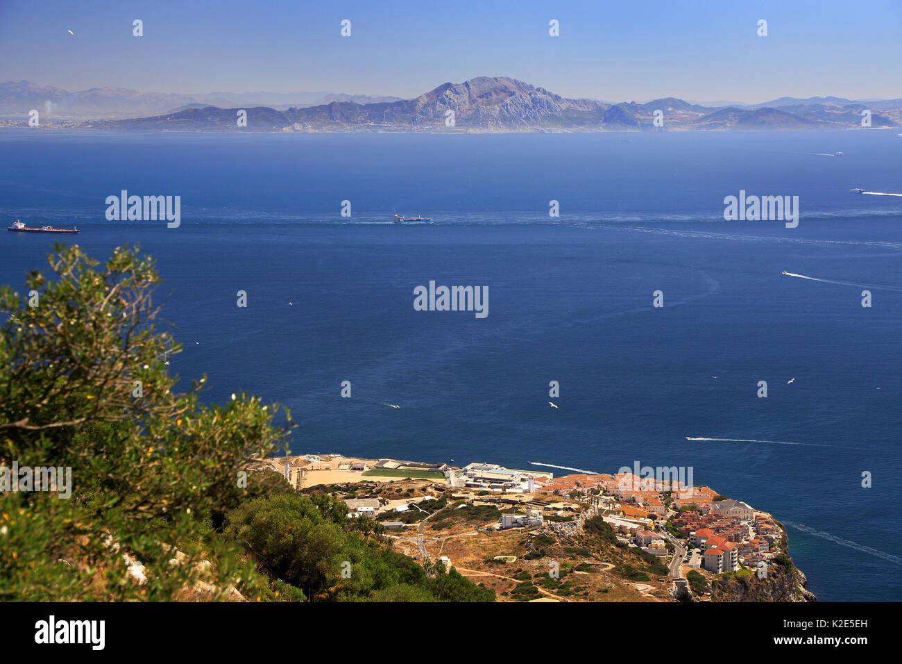 Gibraltar morocco stock photos gibraltar morocco stock - Moroccan port on the strait of gibraltar ...