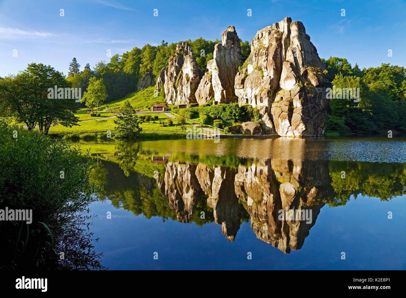 Horn Bad extern stones externsteine sandstone formation teutoburg forest