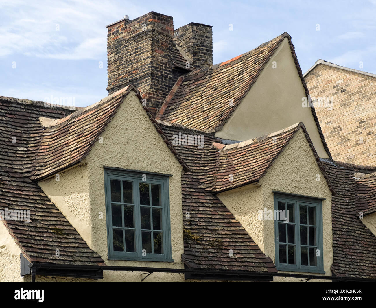 CAMBRIDGE, UK: The Old Gabled Roof Of The Museum Of Cambridge   Stock Image
