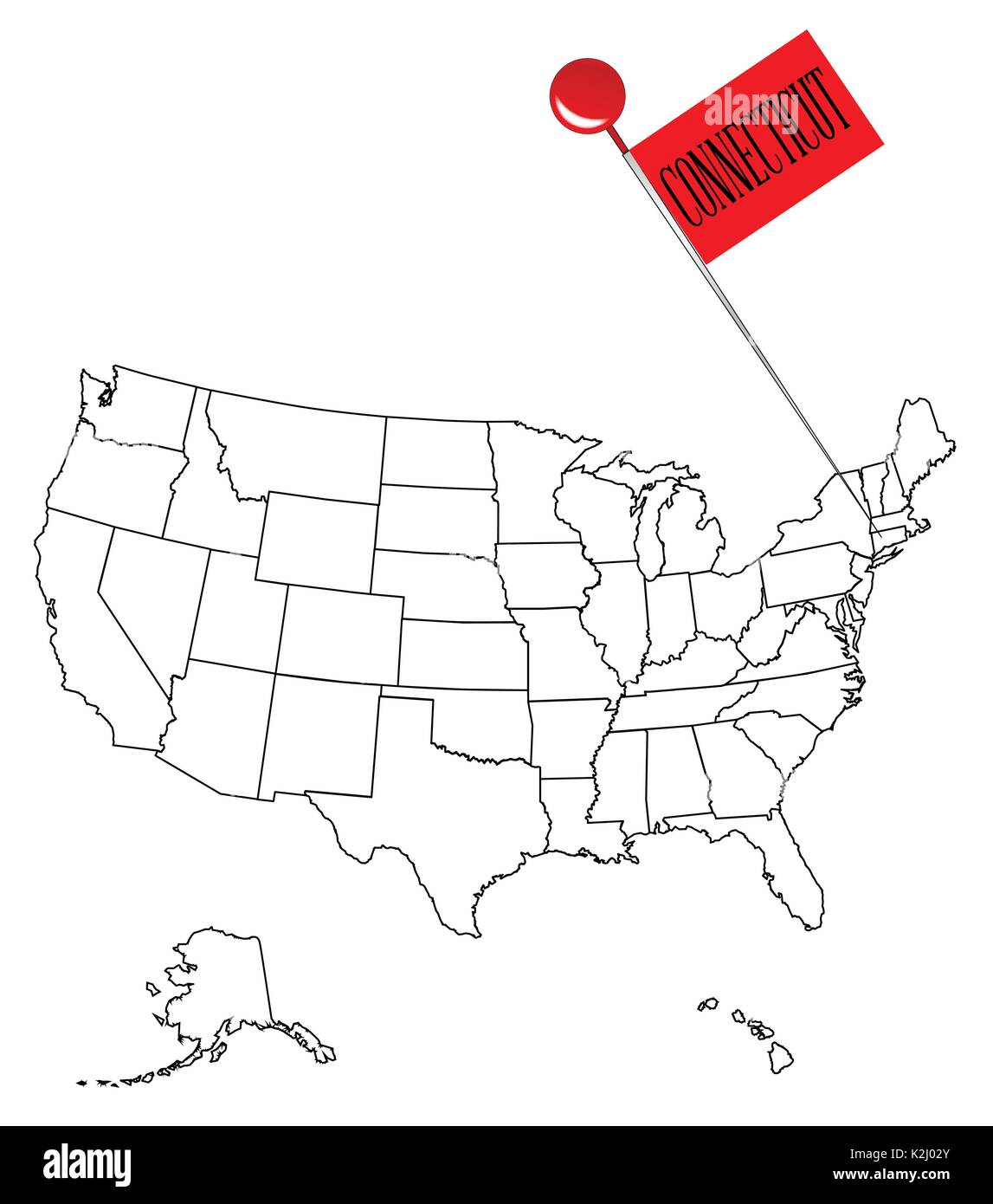 Ideas Map Of Usa With Connecticut On Emergingartspdxcom - Map of usa connecticut