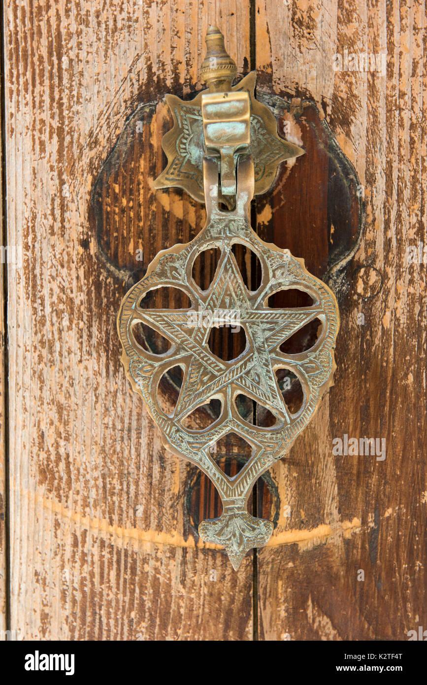 Vintage bronze door knocker in the form of the star of david a vintage bronze door knocker in the form of the star of david a jewish symbol mdina malta buycottarizona Images
