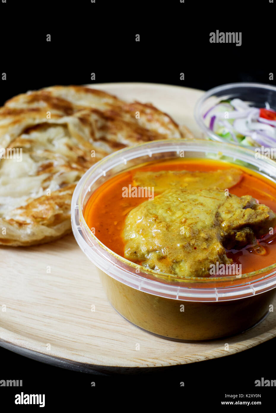 how to make curry chicken roti