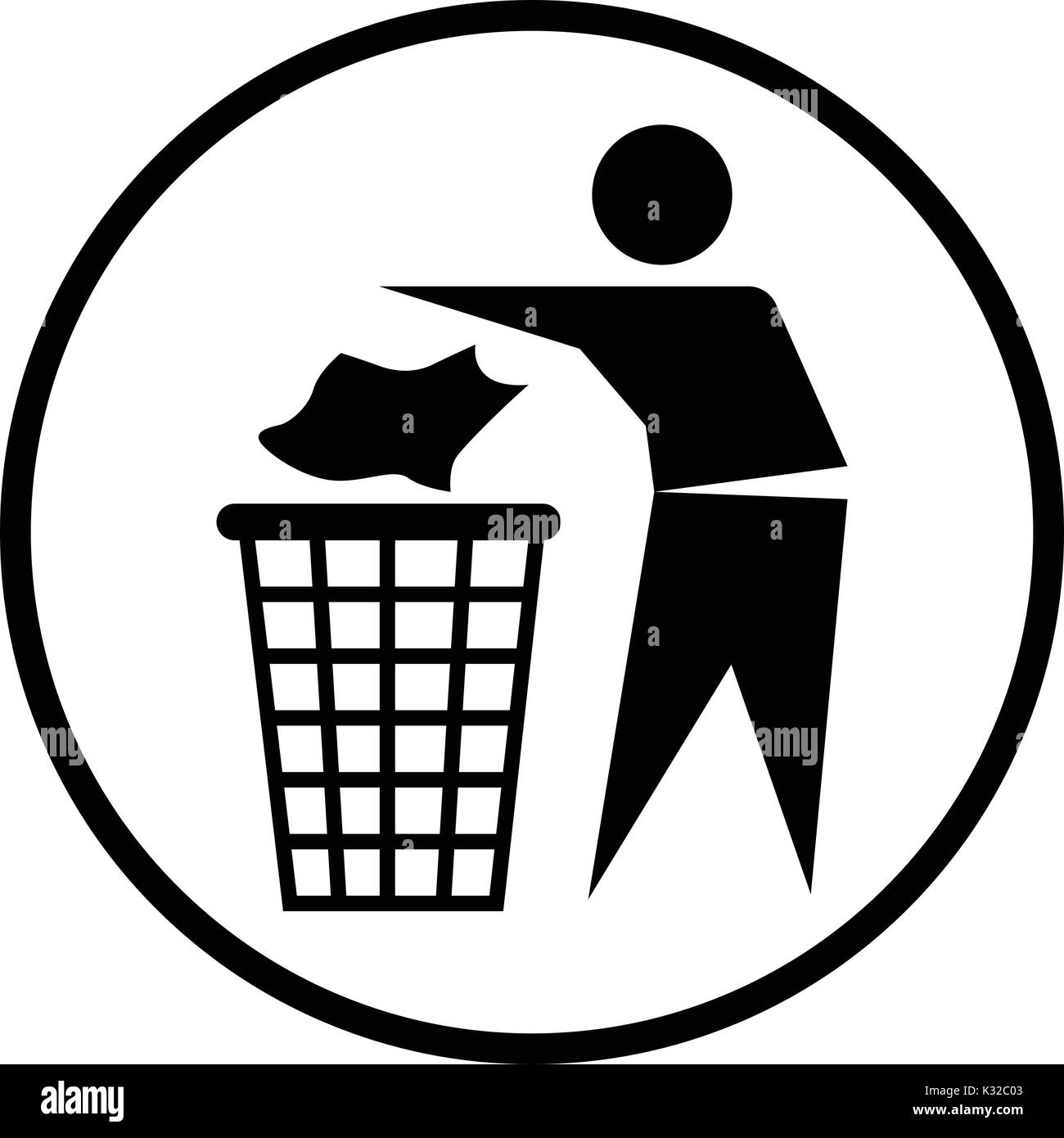 No Littering Symbol On White Stock Photos No Littering Symbol On