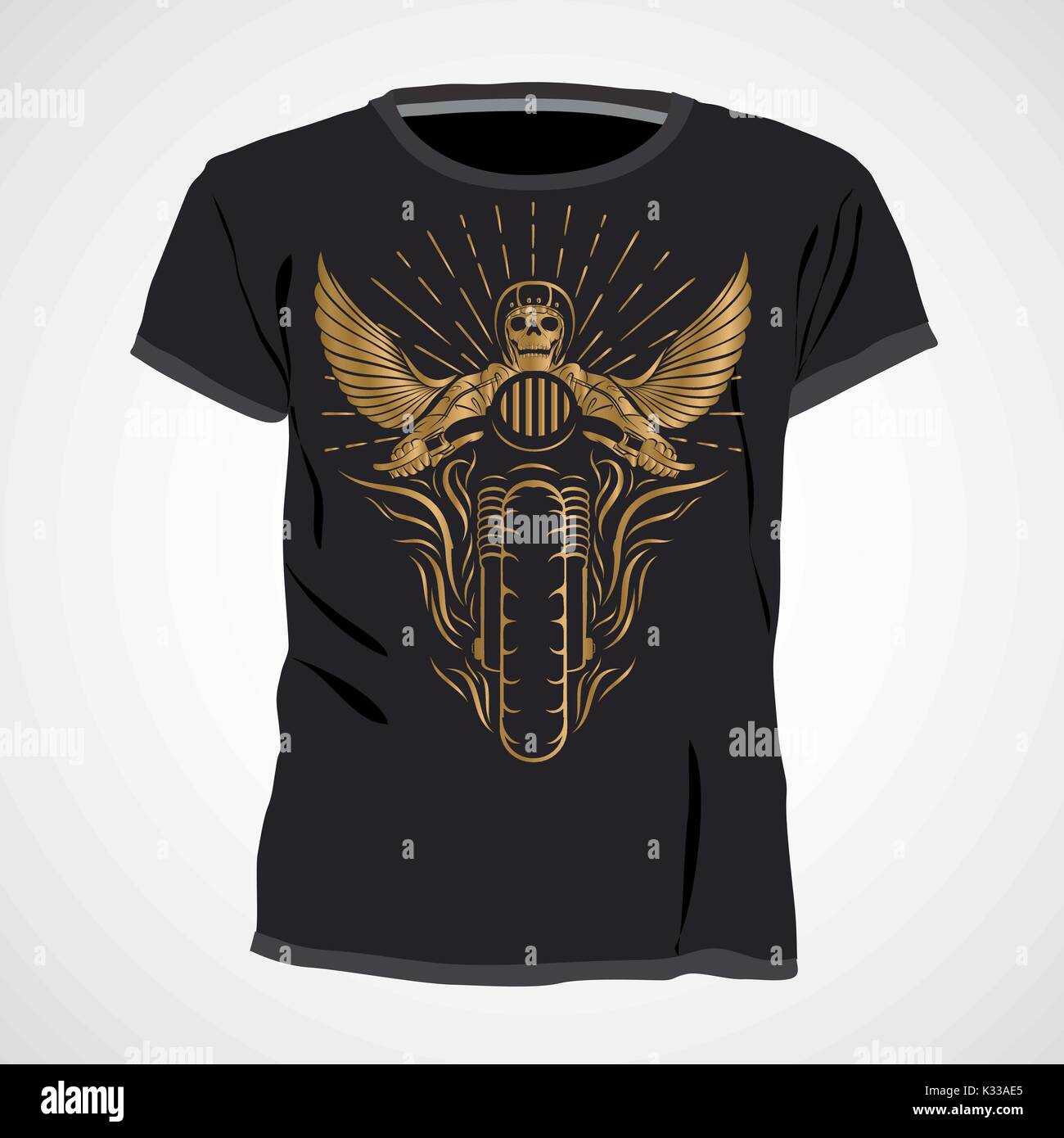 Skull t shirt design template vector illustration stock for T shirt typography template