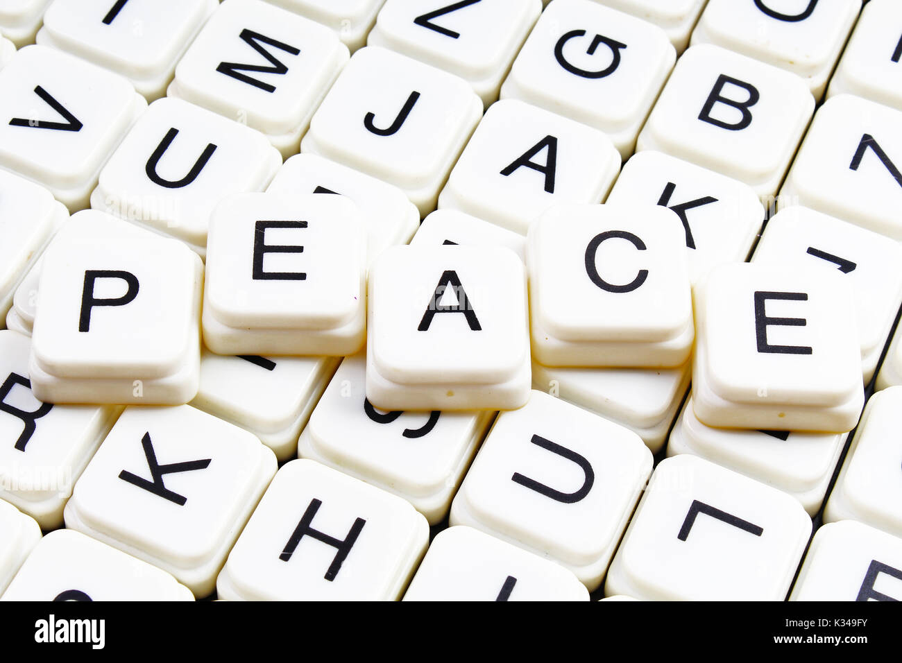 Peace symbol text keyboard image collections symbols and meanings words of peace stock photos words of peace stock images alamy peace text word crossword alphabet biocorpaavc Image collections