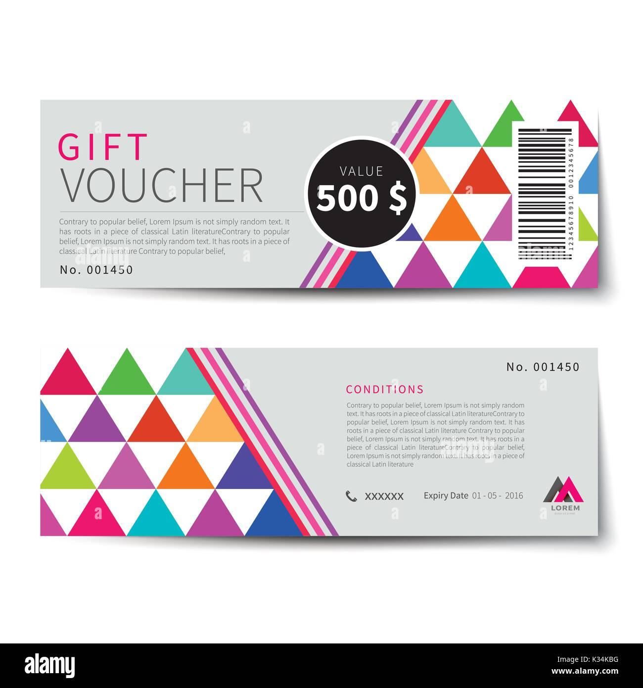 Gift Voucher Border Stock Photos & Gift Voucher Border
