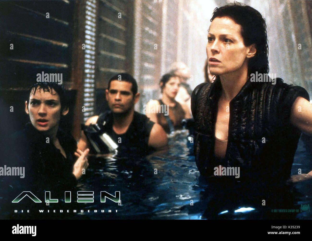 Alien Resurrection 1997 Sigourney Weaver Stock Photos ...