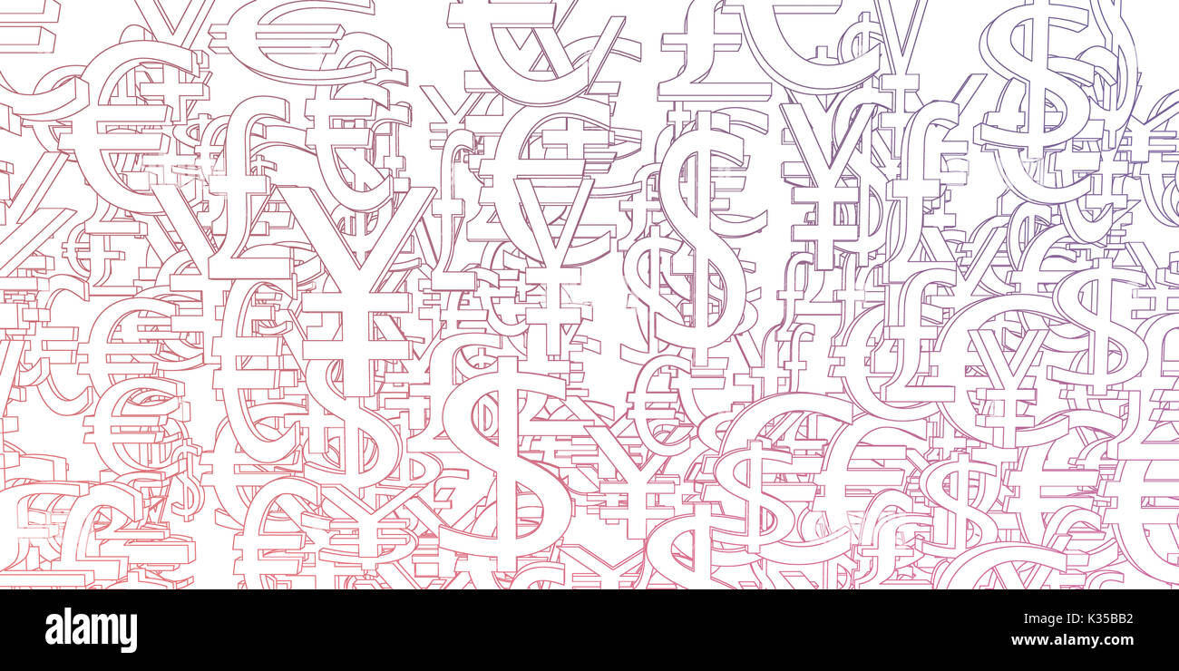 Abstract pattern global currency symbols stock photos abstract currency signs background pattern as a art stock image buycottarizona Gallery