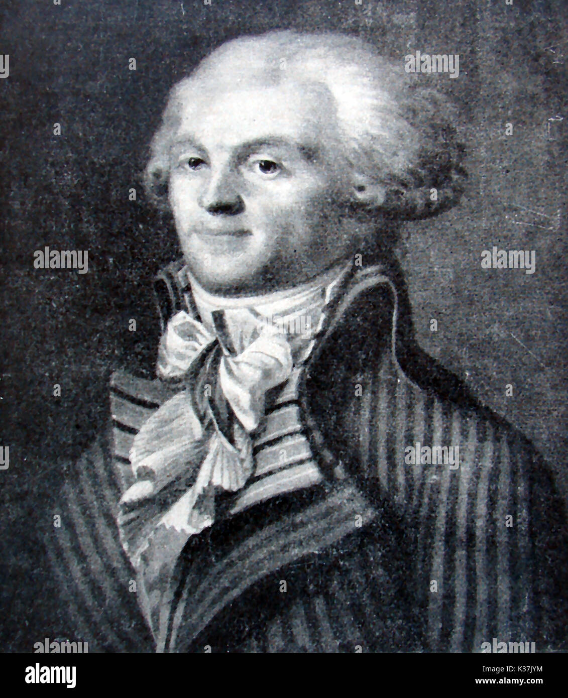 FRENCH REVOLUTION 1789 , A portrait of Maximilien Francois Marie Isidore  Robespierre (Maximilien Robespierre)