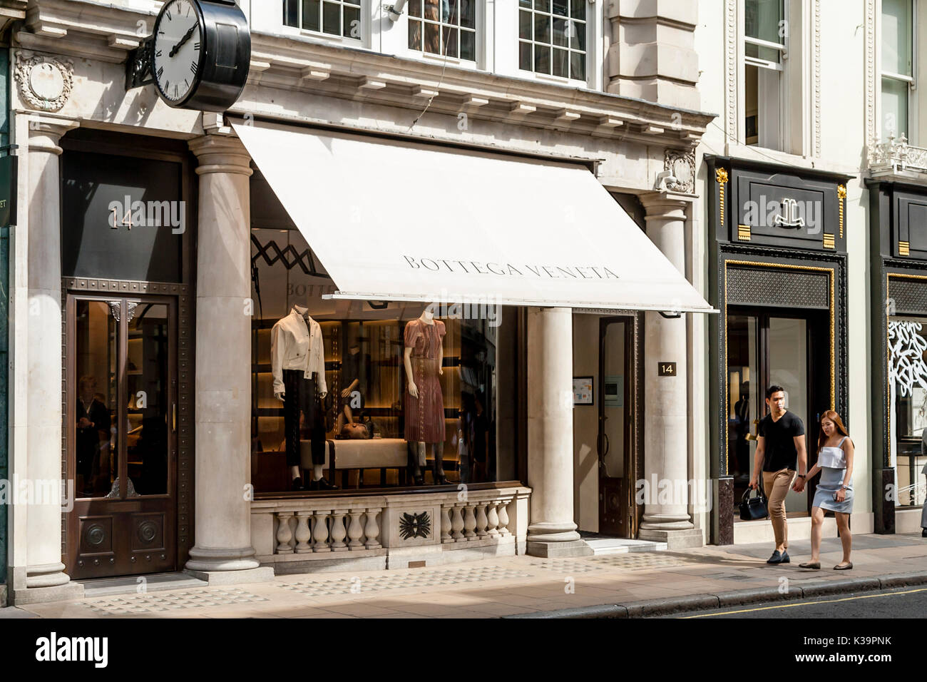The Exterior Of Bottega Veneta Leather Goods And Fashion Store Old Bond Street London UK